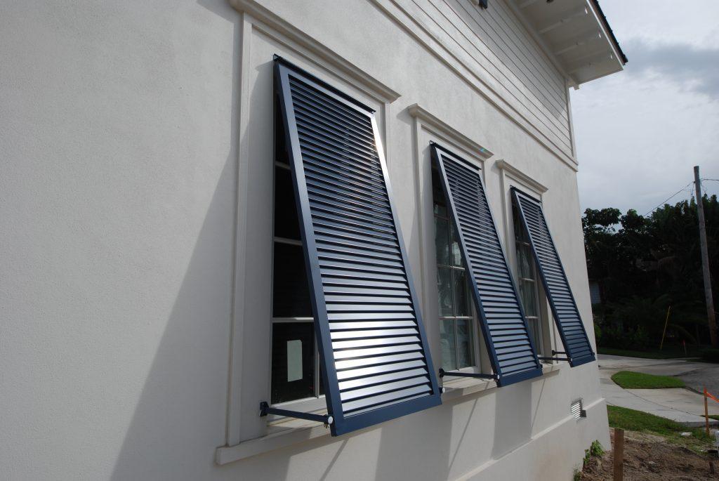 Metal Screen Shutter Building